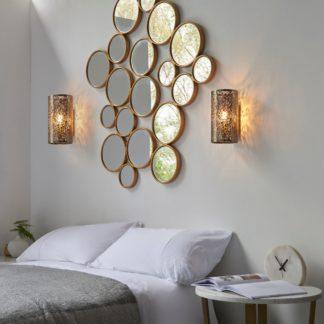 An Image of Endon Secret Floral Wall Light Antique Brass