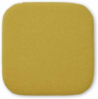 An Image of Dorin Set of 4 Seat Pads, 38 x 38cm, Mustard Yellow