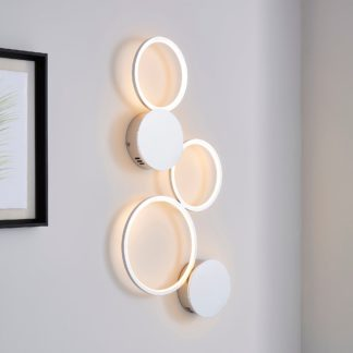 An Image of Langdon Intergrated LED Wall Light Silver