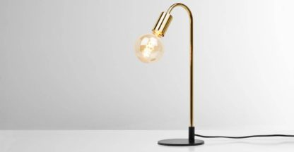 An Image of Octavia Table Lamp, Brass