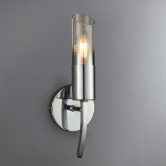 An Image of Corvus Chrome Wall Light Chrome