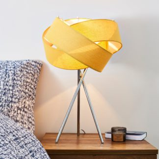 An Image of Elements Harley Ochre Table Lamp Ochre