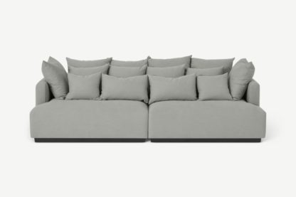 An Image of Laurin 3 Seater Sofa, Frost Grey Linen