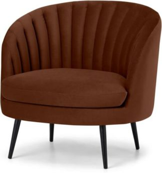 An Image of Sylvie Accent Armchair, Warm Caramel Velvet
