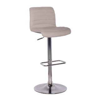 An Image of Vigo Bar Stool Natural Fabric Natural