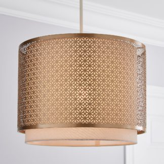 An Image of Vienna Easy Fit Pendant 30cm Champagne