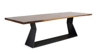 An Image of Riva 1920 Bedrock Plank C Table 6-8 Seater Walnut
