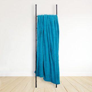 An Image of Soft Fleece 230cm x 255cm Throw Blue