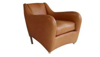 An Image of Scp Balzac Chair Utah Russet