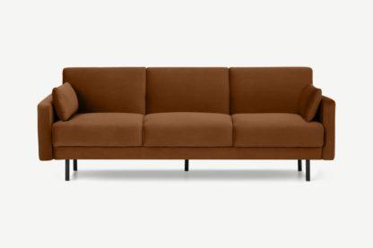 An Image of Delphi Click Clack Sofa Bed, Cinnamon Velvet