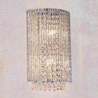 An Image of Endon Galina Crystal Wall Light Chrome Chrome