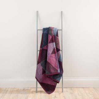 An Image of Thermosoft Purple Geometric Blanket Purple and Blue