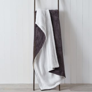 An Image of Jumbo Cord Sherpa 130cm x 180cm Throw Grey