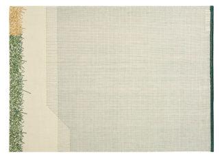 An Image of Gandia Blasco Backstitch Calm Rug in Green 170 x 240cm
