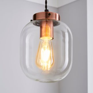 An Image of Dayo 1 Light Ceiling Fitting Clear Clear