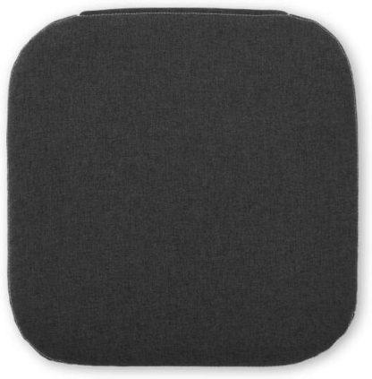An Image of Dorin Set of 4 Seat Pads, 38 x 38cm, Charcoal Grey
