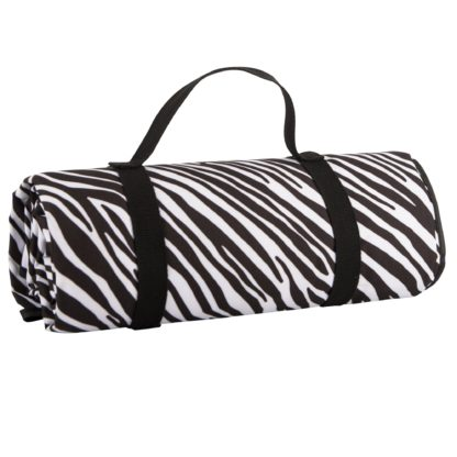An Image of Madagascar Waterproof Picnic Rug Black and White
