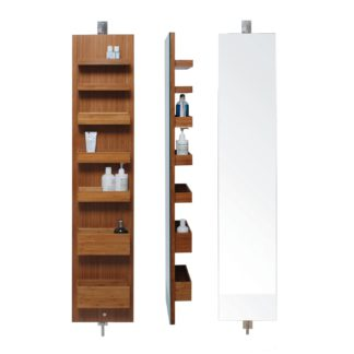 An Image of Wireworks Revolving Wall Storage Cabinet Bamboo