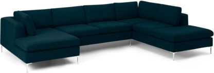 An Image of Monterosso Right Hand Facing Corner Sofa, Elite Teal