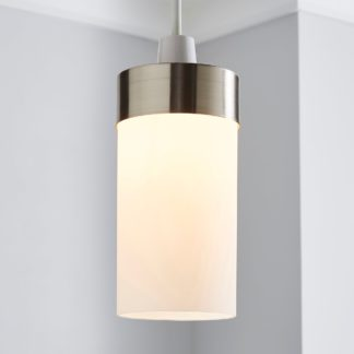 An Image of Ferris Satin Nickel Easy Fit Pendant Gold