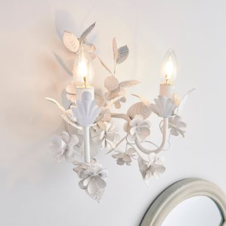 An Image of Chateau 2 Light Candelabra White Wall Light White