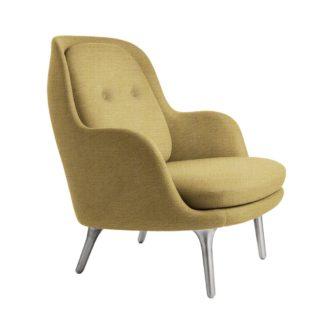 An Image of Fritz Hansen Fri Lounge Chair Christianhavn Yellow