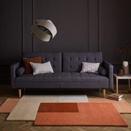 An Image of Anders Wool Rug Orange and Brown