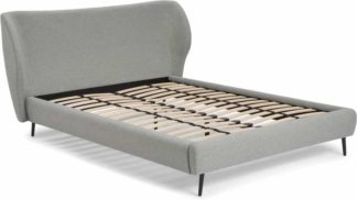 An Image of Topeka Double Bed, Mountain Grey