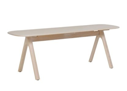 An Image of Ercol Corso Bench Whitened Ash