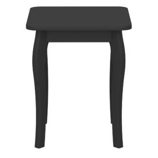 An Image of Baroque Dressing Table Stool Black