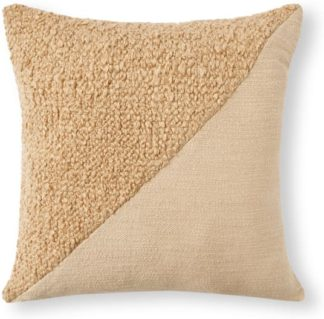 An Image of Opie Textured Cotton Cushion, 50 x 50cm, Natural