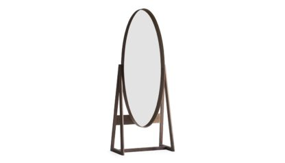An Image of Pinch Iona Tall Cheval Mirror Walnut