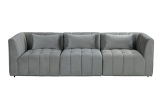 An Image of Essen Three Seat Sofa – Dove Grey