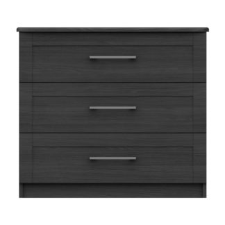 An Image of Ethan Graphite 3 Drawer Chest Grey