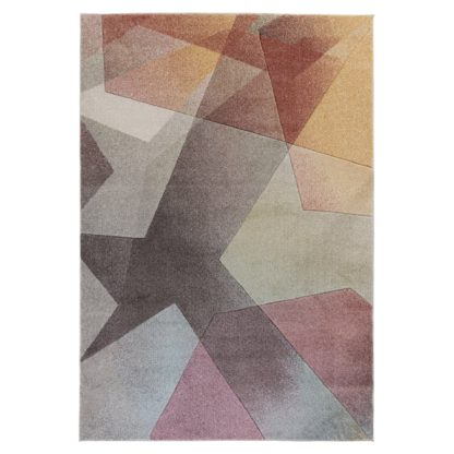 An Image of Remy Rug Pink, Beige and Grey