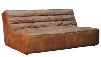 An Image of Timothy Oulton Shabby 3 Seater Sofa Savage Leather