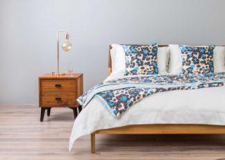 An Image of De La Espada McQueen Bedside Table Walnut