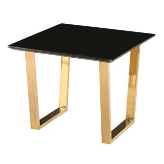 An Image of Antibes Black Lamp Table Black