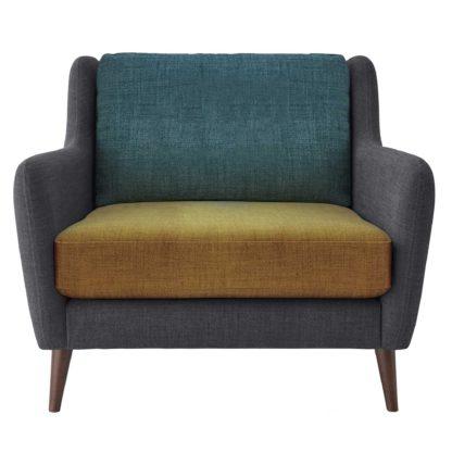 An Image of Orla Kiely Fern Snuggle Chair, Liffey Multi
