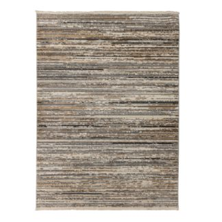 An Image of Lagos Rug Brown, Grey and White
