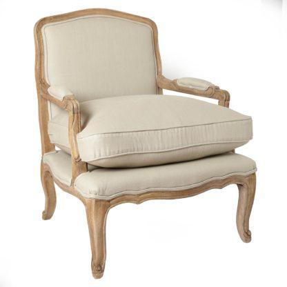 An Image of Sofia Linen Chair - Natural Linen Brown