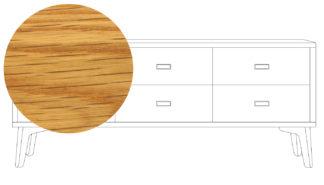 An Image of De La Espada Mcqueen Low Chest Oiled Oak