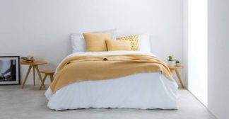 An Image of Malone 150 x 200cm 100% Cotton Throw, Mustard