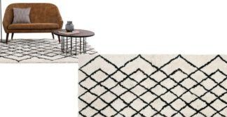 An Image of Fes Tufted 100% Wool Rug, Extra Large 200 x 300cm, Off White