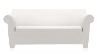 An Image of Kartell Bubble Club Sofa Zinc White