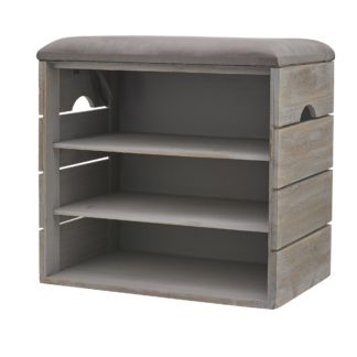 An Image of 3 Tier Grey Shoe Cabinet Grey