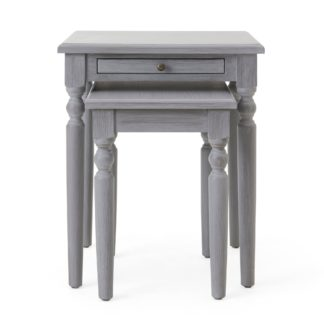 An Image of Lucy Cane Grey Nest of Tables Grey