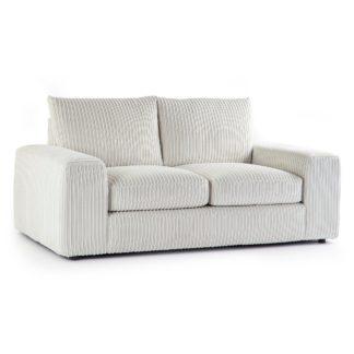 An Image of Champ Fabric 2 Seater Sofa Cream