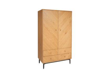 An Image of Ercol Monza Double Wardrobe Oak