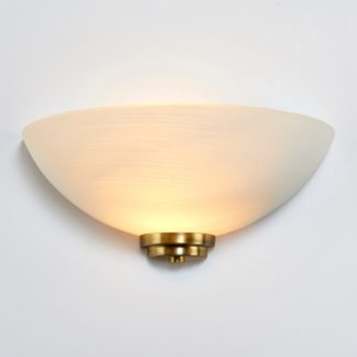An Image of Endon Welles 1 Light Frosted Glass Wall Light White